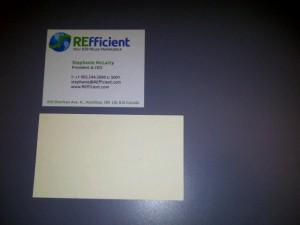 """""""REfficient"""" business cards"""